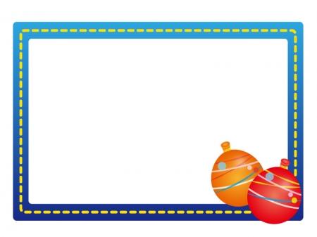 水風船・お祭りのフレーム・枠イラスト素材02