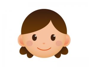 お母さんの顔のアイコンイラスト素材