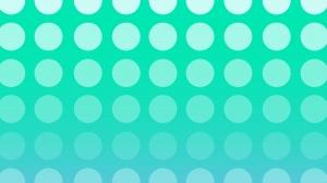 ミントグリーンの大きなドットの壁紙・背景素材 1,920px×1,080px