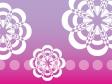ピンクのグラデーション背景の花の模様の壁紙・背景素材 1,920px×1,080px