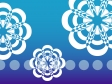 青いグラデーション背景の花の模様の壁紙・背景素材 1,920px×1,080px