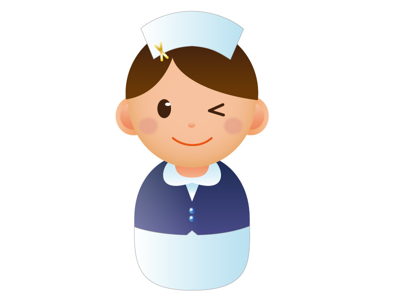 ナース(看護師)のアイコンイラスト素材