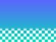 青と緑色とチェックの壁紙・背景素材 1,920px×1,080px