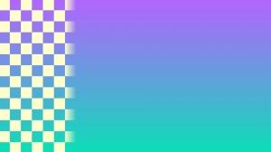 青と緑色とチェックの壁紙・背景素材 1,920px×1,080px パターン2