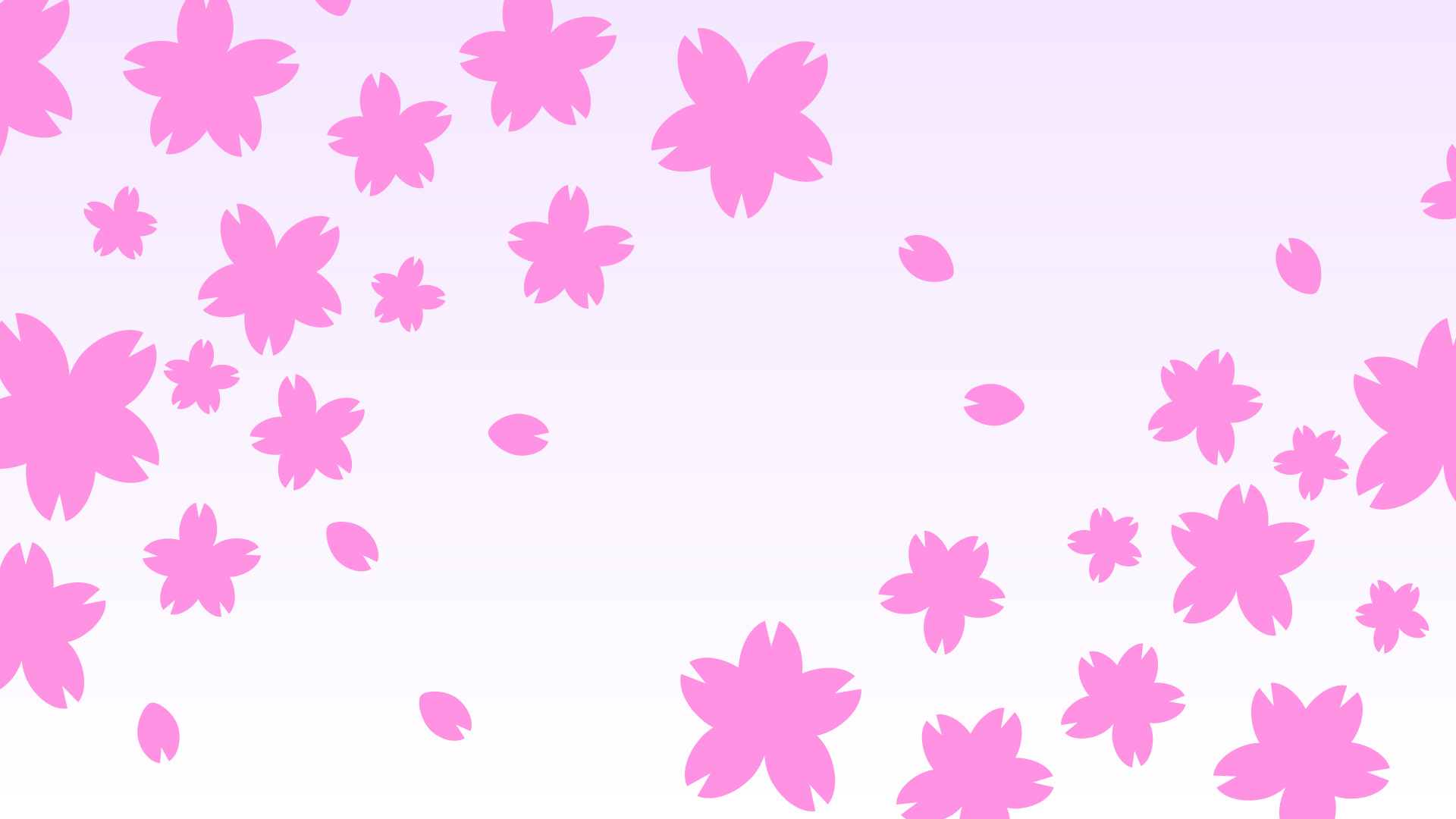 桜の花びらの壁紙・背景素材 1,920px×1,080px