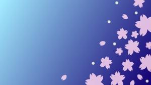 夜桜の壁紙・背景素材 1,920px×1,080px