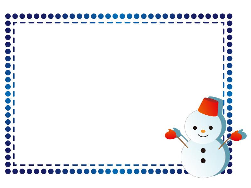 雪だるま・冬の枠・フレーム素材