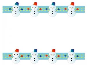 雪だるま・冬の枠・フレーム素材02