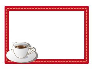 コーヒーカップのフレーム・枠イラスト素材