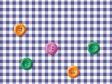 ボタンとチェック模様の壁紙・背景素材 1,920px×1,080px