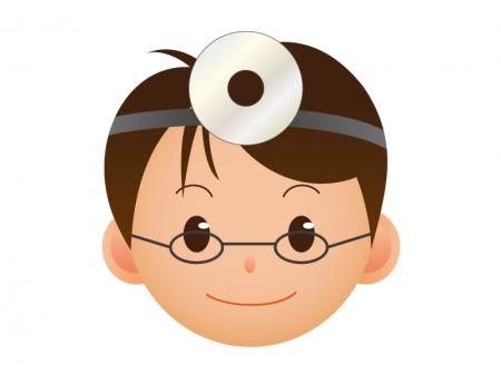 医師の顔のアイコンイラスト素材