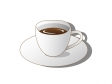 コーヒーが入った白いコーヒーカップのイラスト素材02