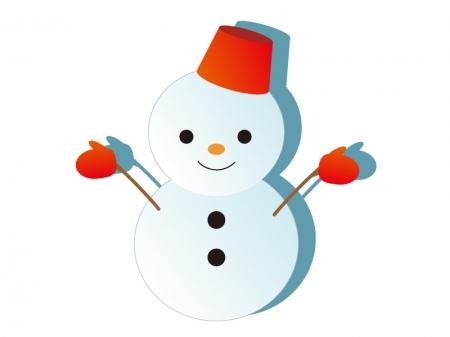 雪だるま・冬のイラスト素材02