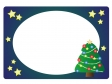 クリスマスツリー・冬の枠・フレーム素材