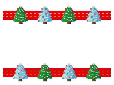 クリスマスツリー・冬の枠・フレーム素材02