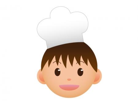 コック・料理人の顔のアイコンイラスト素材