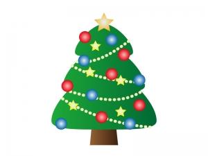 クリスマスツリー・冬のイラスト素材