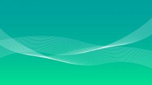 グリーングラデーションと波線の壁紙・背景素材 1,920px×1,080px