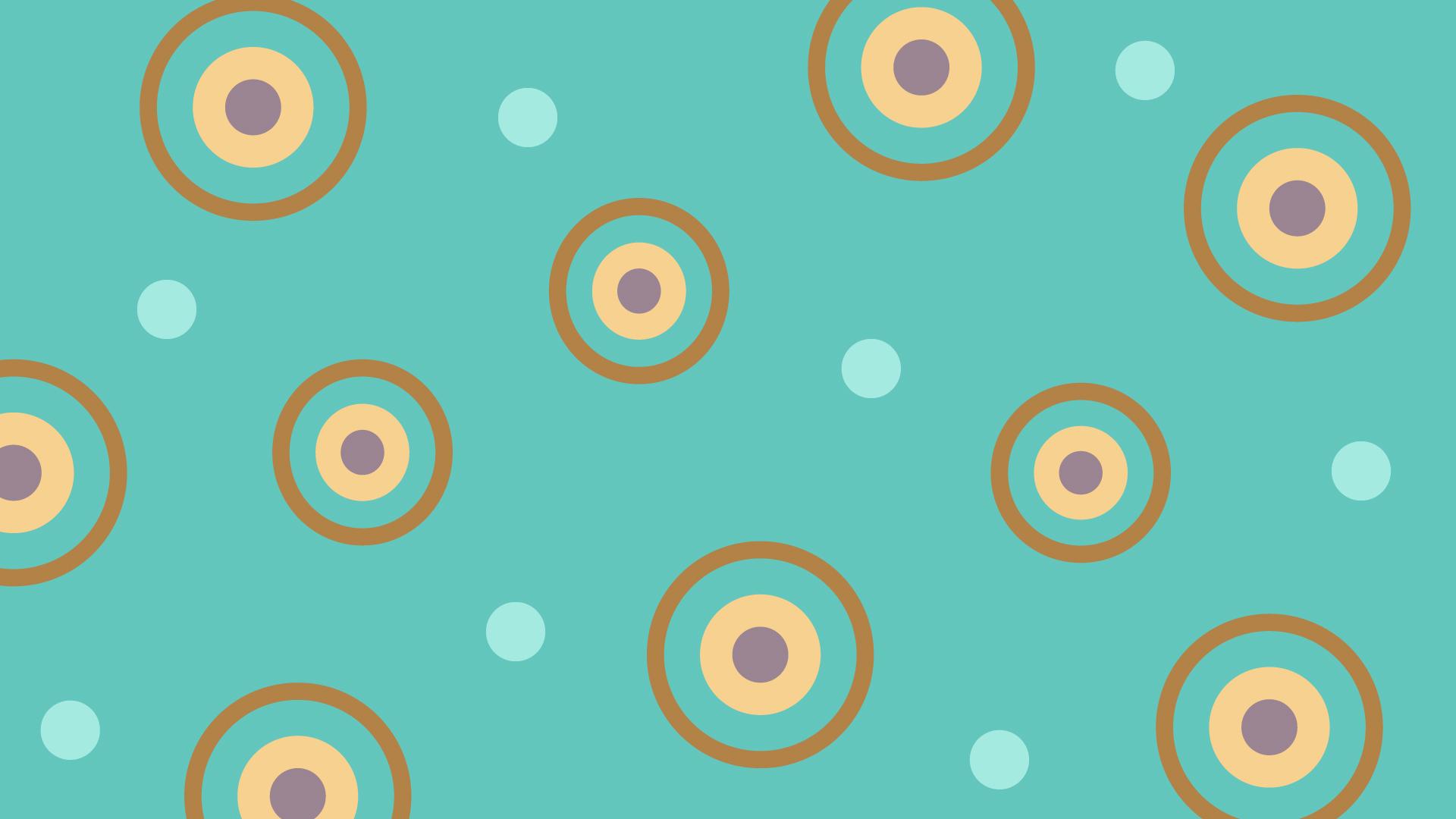 丸い模様とパステル調の壁紙・背景素材 1,920px×1,080px
