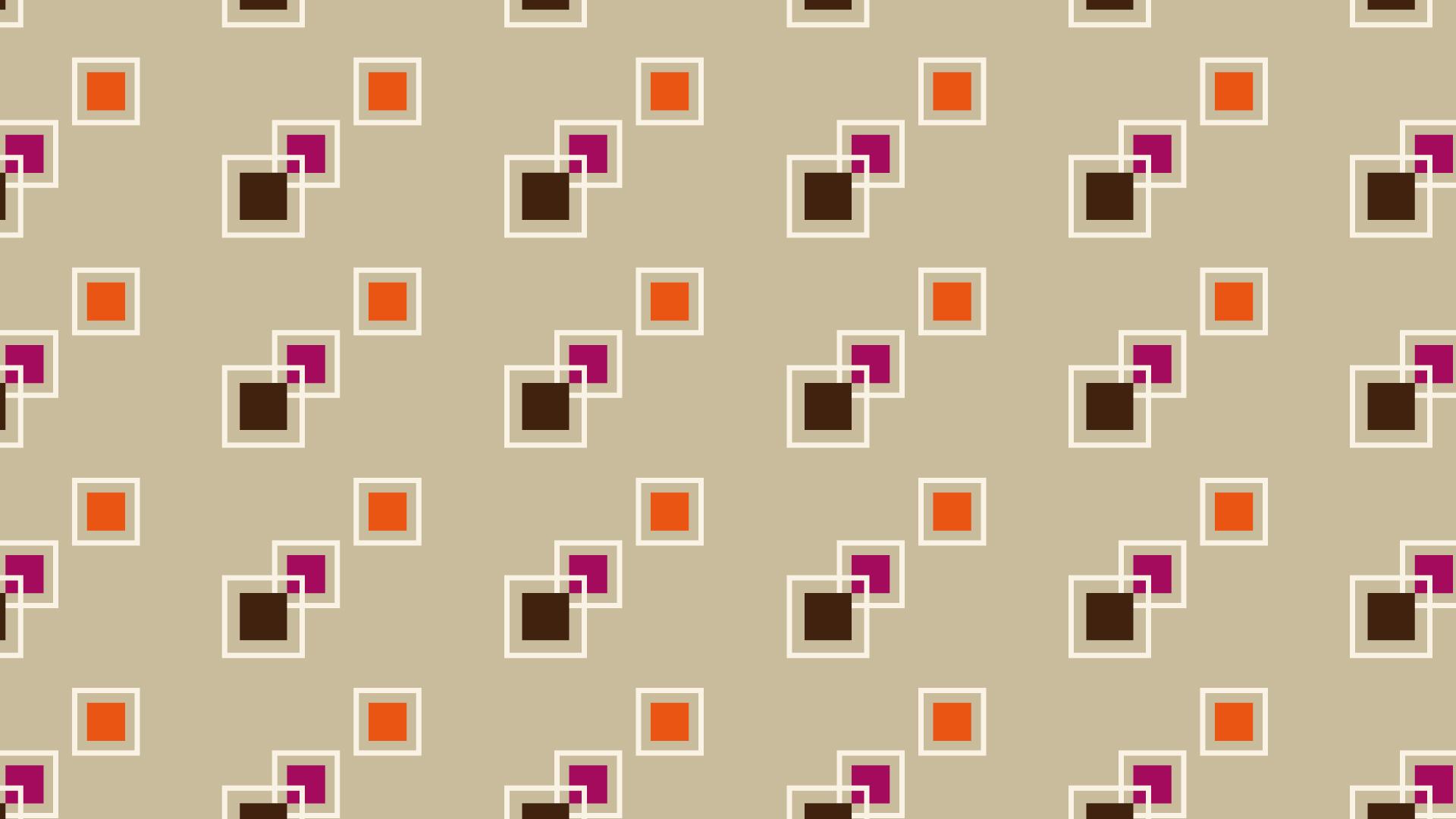 四角い模様とパステル調の壁紙・背景素材 1,920px×1,080px
