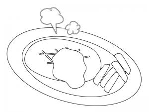 ぬりえ素材・ハンバーグ ... : 日本地図 ぬりえ : 日本