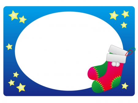 クリスマスブーツ・冬の枠・フレーム素材