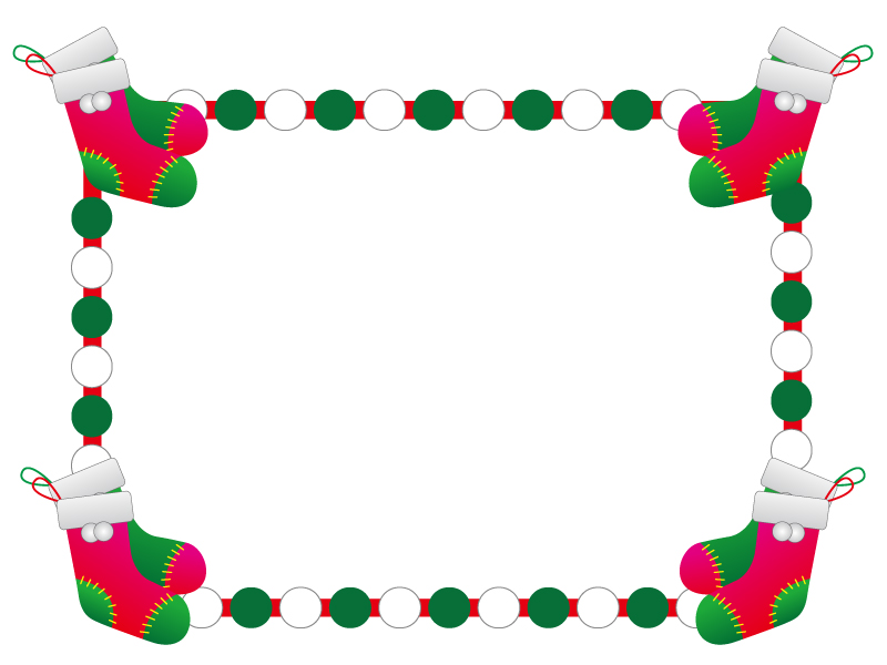 クリスマスブーツ・冬の枠・フレーム素材02