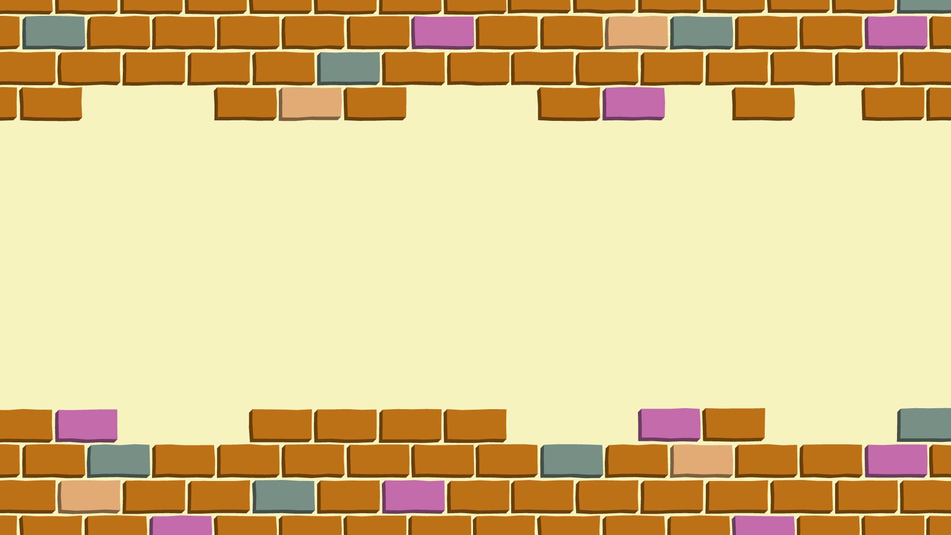 カラフルなレンガの壁紙・背景素材 1,920px×1,080px