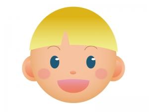 外国人の男の子の顔のアイコンイラスト素材