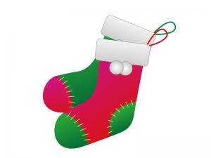 クリスマスブーツ・冬のイラスト素材