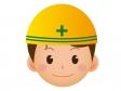 工事現場で働く人の顔のアイコンイラスト