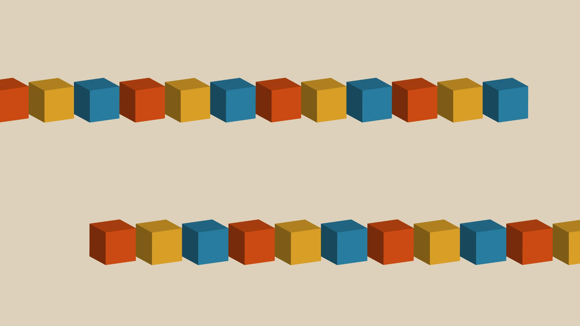 カラフルなブロック模様の壁紙・背景素材 1,920px×1,080px