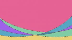 点線の入ったカラフルでパステル調の壁紙・背景素材 1,920px×1,080px