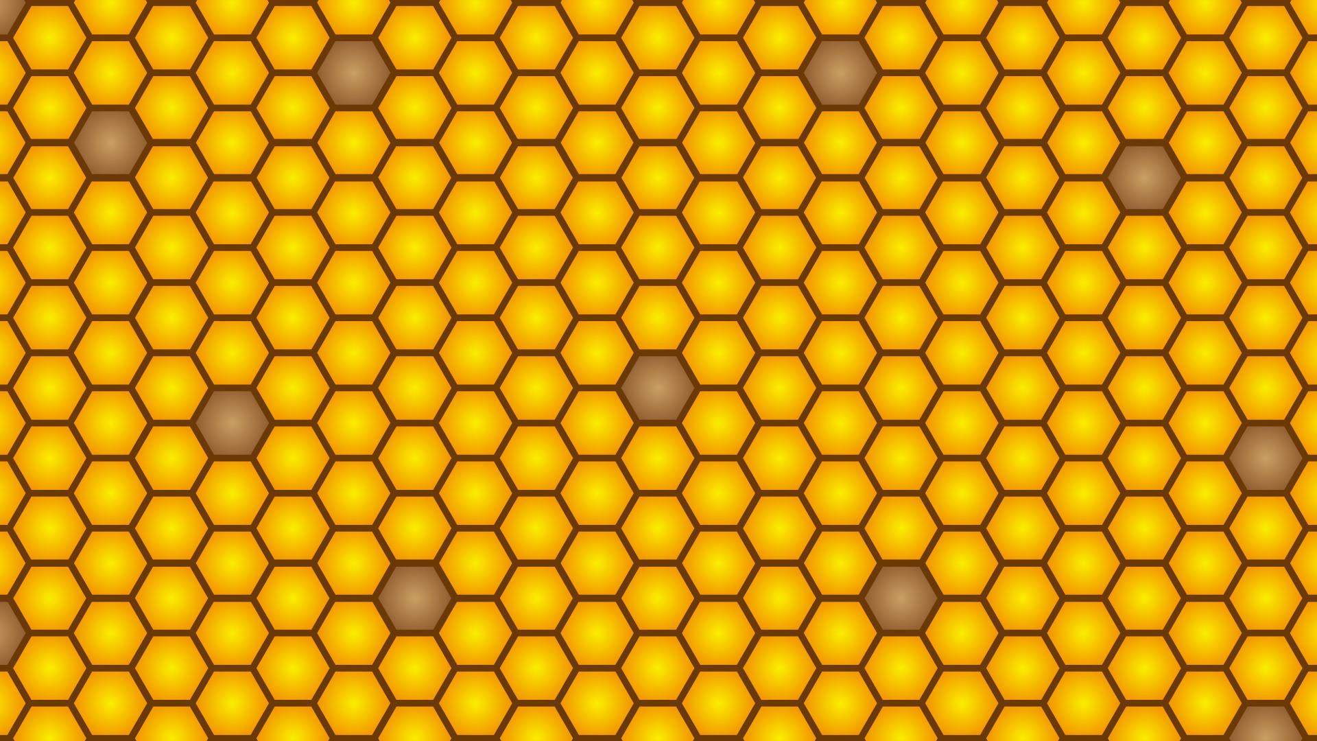 蜂の巣模様の壁紙・背景素材 1,920px×1,080px