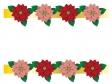 クリスマス・ポインセチアのフレーム・枠素材02