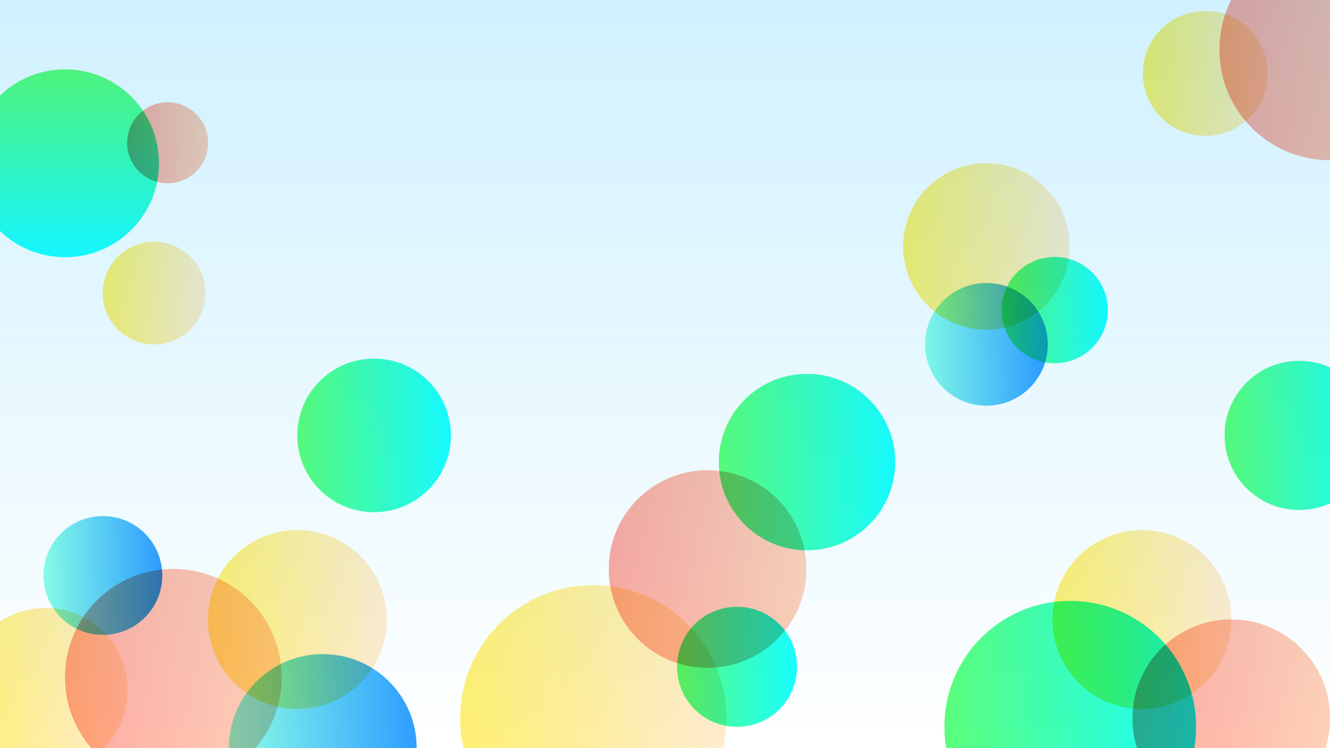 カラフルなバブルの壁紙・背景素材 1,920px×1,080px