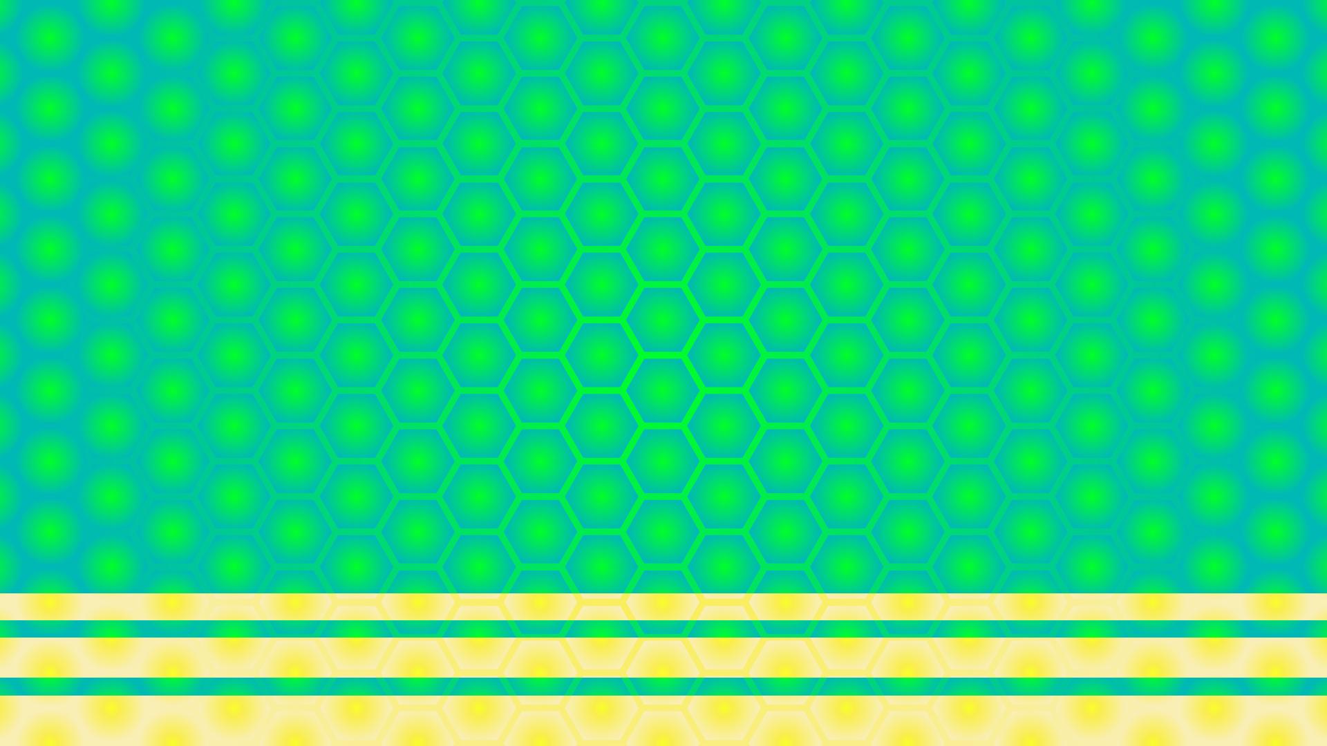 蜂の巣模様(緑)の壁紙・背景素材 1,920px×1,080px