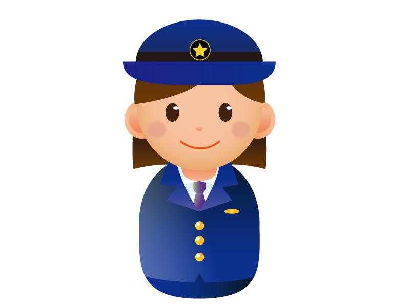 婦人警察官のアイコンイラスト