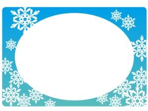 雪の結晶・冬のフレーム・枠素材
