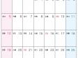 六曜付・2015年(平成27年)カレンダー4月・A4印刷用