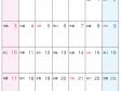 六曜付・2016年(平成28年)カレンダー4月・A4印刷用