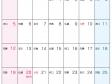 六曜付・2015年(平成27年)カレンダー7月・A4印刷用