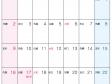 六曜付・2017年7月(平成29年)カレンダー・A4印刷用