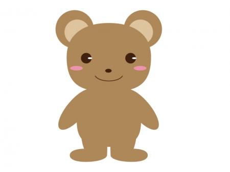 かわいいクマ(全身)のイラスト素材