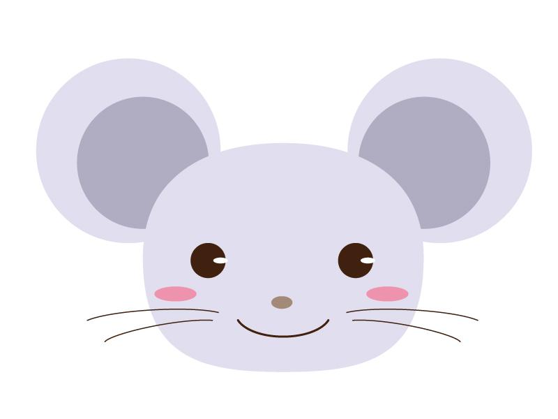 かわいいネズミのイラスト素材