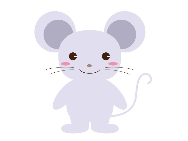 かわいいネズミ(全身)のイラスト素材