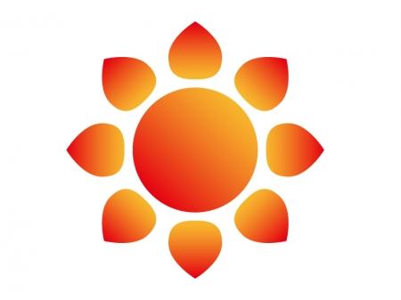 天気・太陽・晴れマークのイラスト素材
