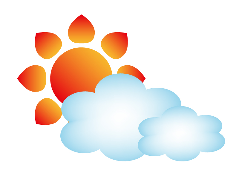 天気・晴れのち曇マークのイラスト素材