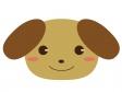 かわいい犬のイラスト素材