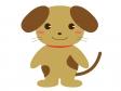 かわいい犬(全身)のイラスト素材